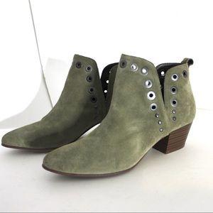 Sam Edelman Shoes - Sam Edelman Suede Olive Green Rubin Booties